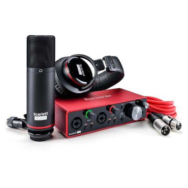 undefined Focusrite Scarlett 2i2 Studio 3e génération - Avec microphone et écouteurs