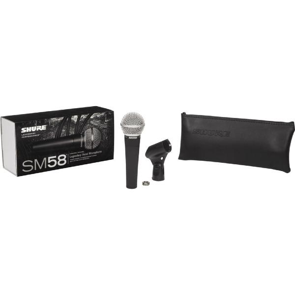 undefined Shure SM-58LC microphone dynamique, cardioïde, pour la voix.