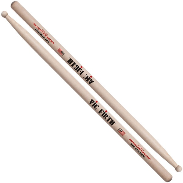 undefined Baguettes à pointes rondes Vic Firth General Custom