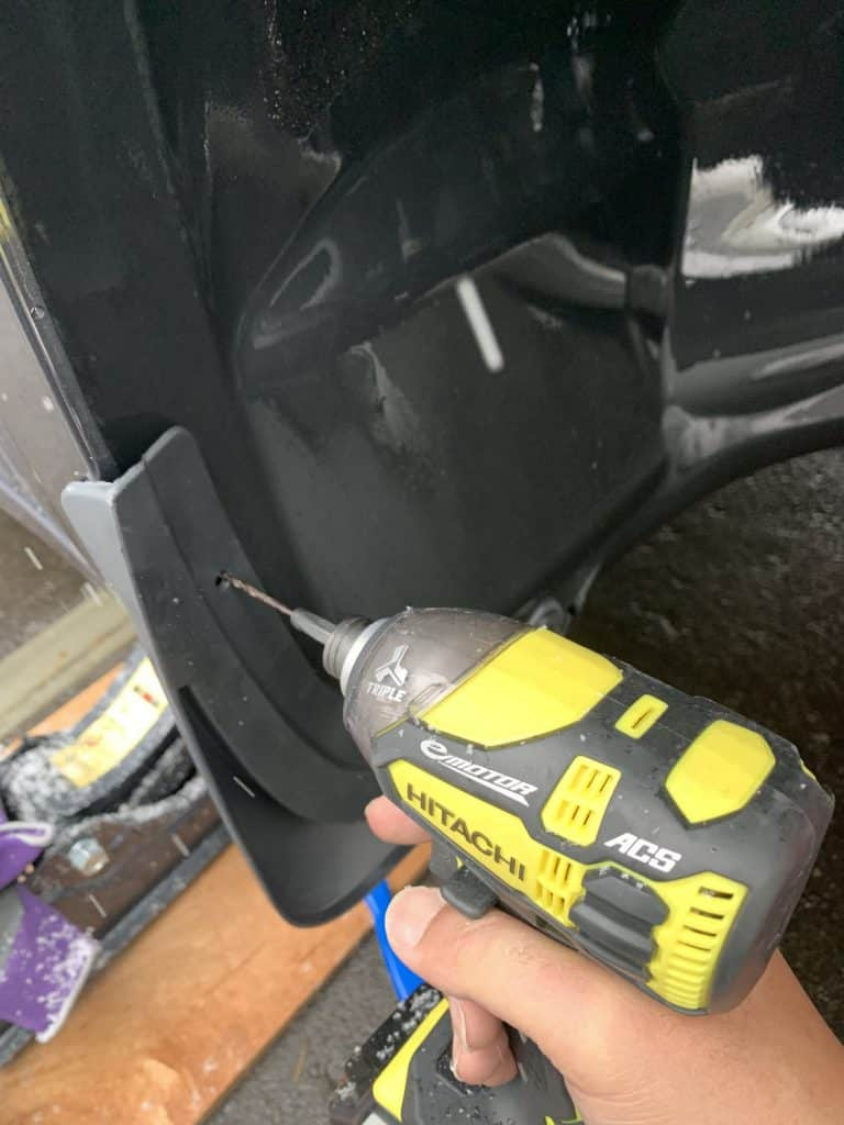 Mud Flaps front Installation 3