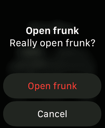Opening Frunk, double-checking.