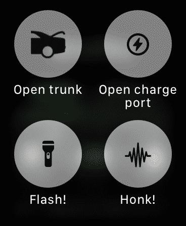 Watch app for Tesla Sub Screen