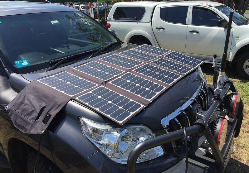 Solar charging car