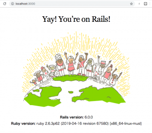 Rails6 × Ruby2.6.3 × Docker × MySQLで開発環境を作る
