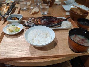 魚の大きさに愕然!!MUJI Diner in 銀座 で焼き魚定食を食べてきました