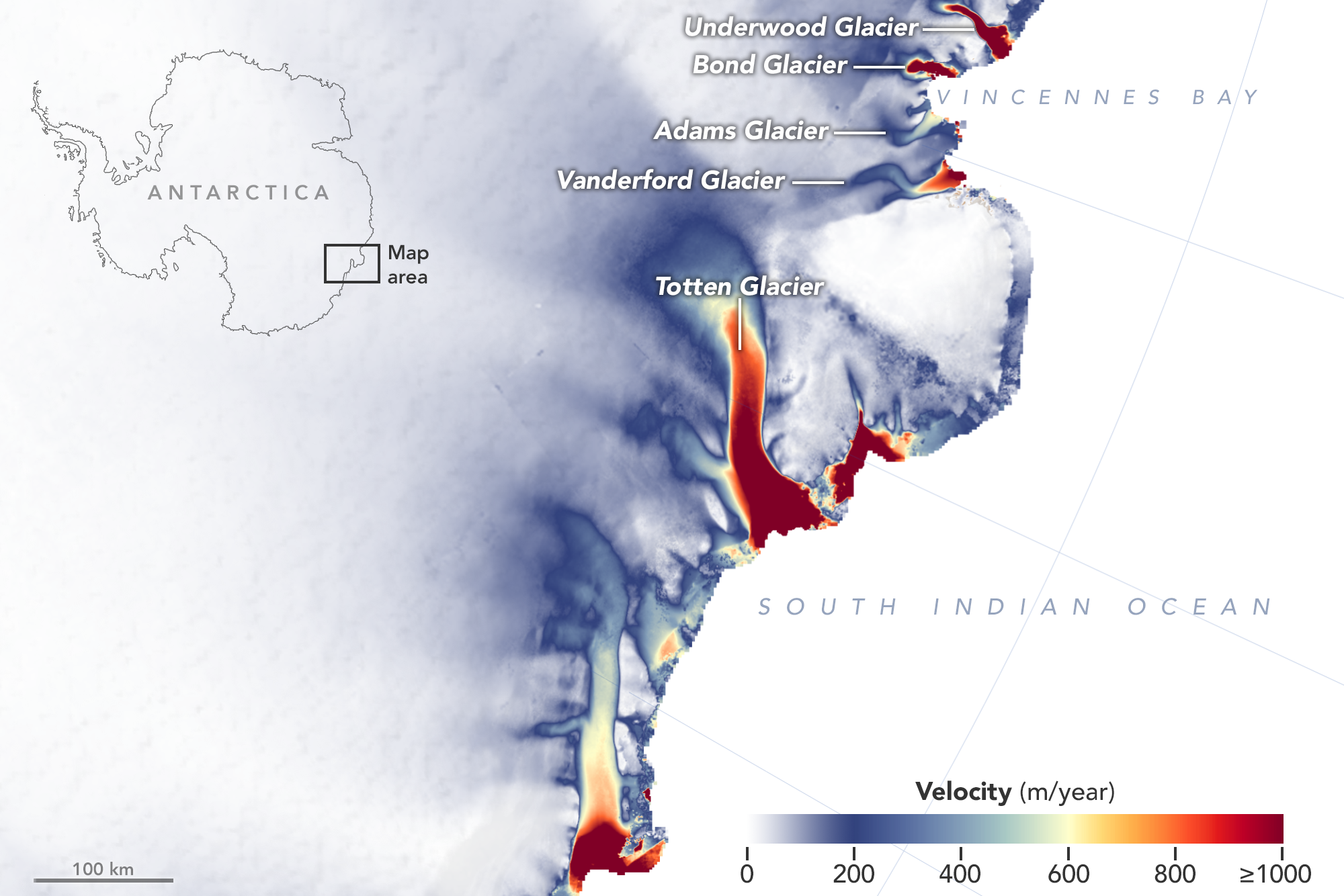 NASA informa las consecuencias del calentamiento global