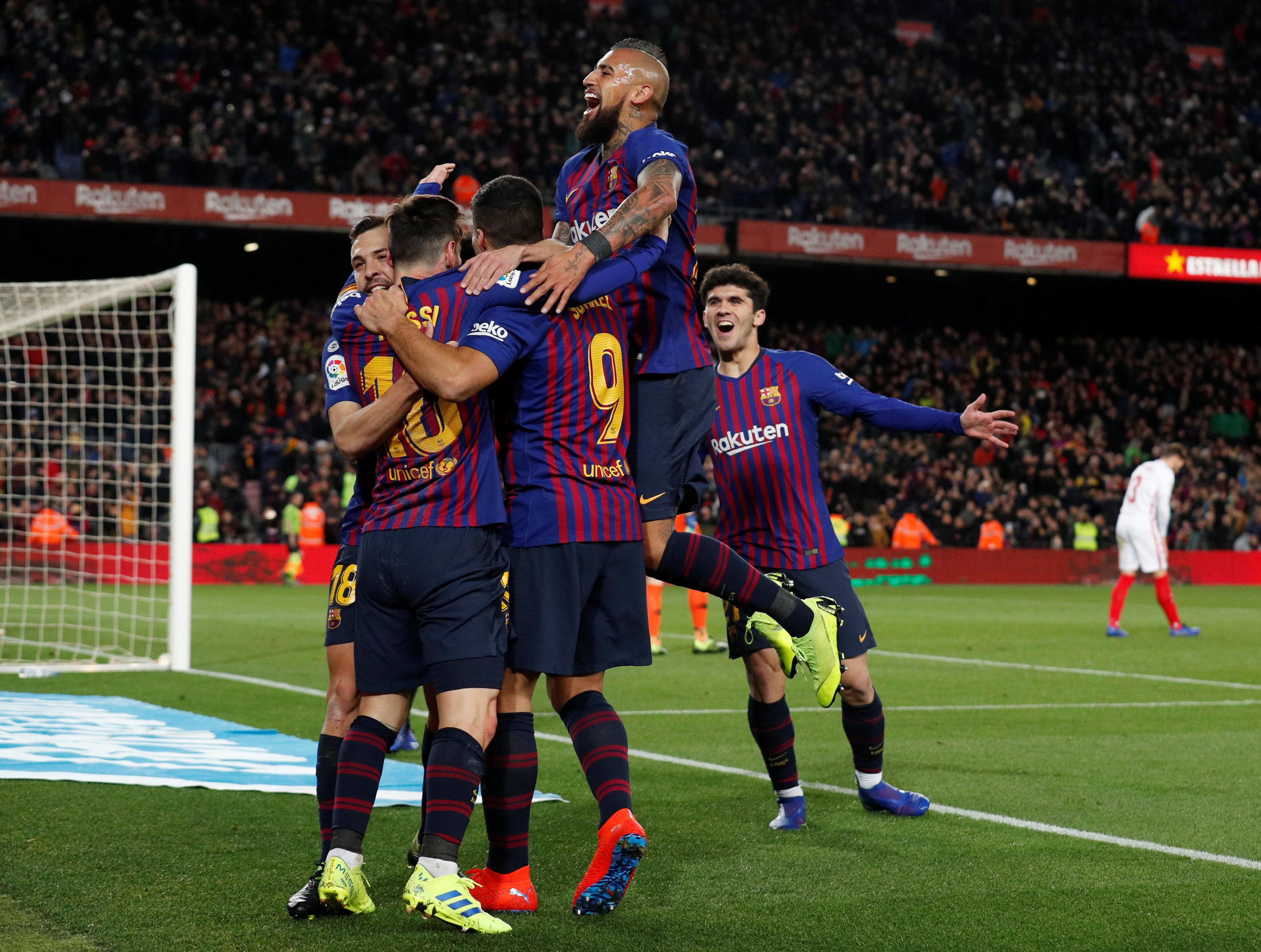 Aplasta Barcelona 6-1 a Sevilla y avanza a semifinales de la Copa del Rey