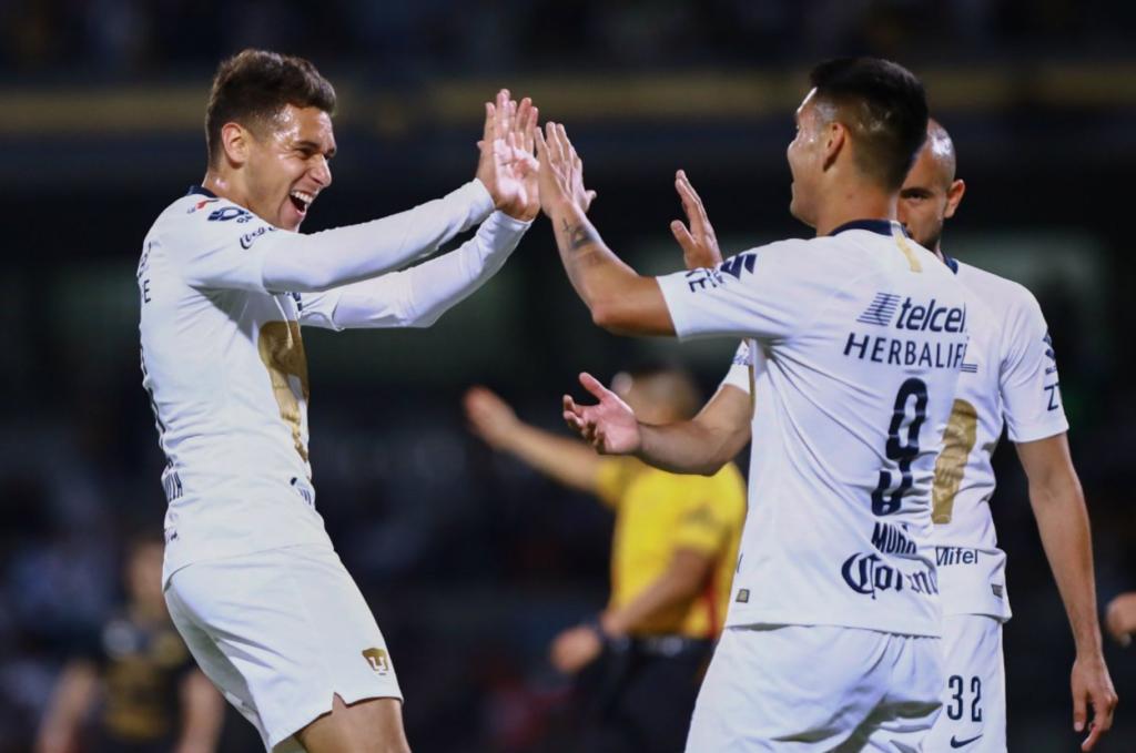 Pumas avanza a 'semis' de Copa MX tras golear 3-0 a Dorados