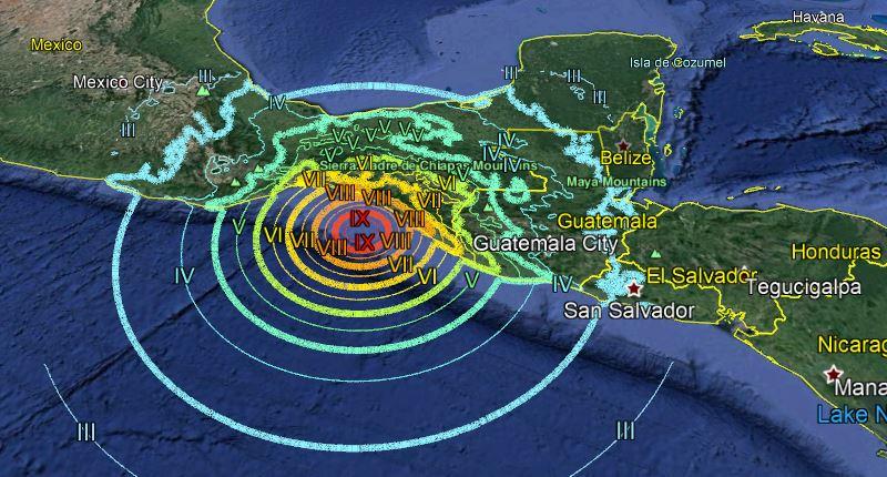 Sismo remece a Chiapas