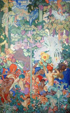 11. Sir Frank Brangwyn, British Empire Panel, India, 609 x 396, 1926-­‐1930, Glynn Vivian Art Gallery, Swansea