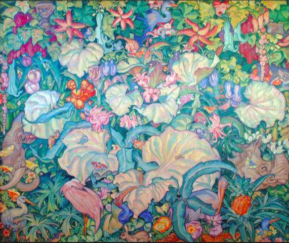 Sir Frank Brangwyn, British Empire Panels, Siam, tempera, 365.7 x 396, 1927-1930, Glynn Vivian Art Gallery, Swansea