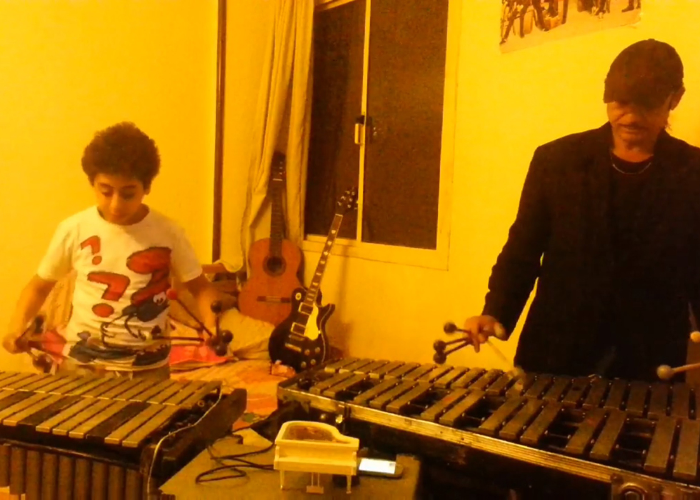 WATCH: Egyptian Father-Son Duo Play '3 Daqat' On Vibraphone