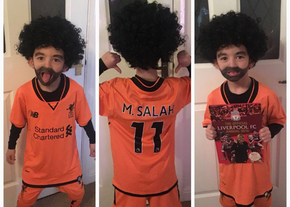 reputable site d5953 cf3ea Young British Fan Draws On Fake Beard To Look Like Mohamed ...