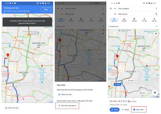 Google Maps To Make Taxi Rides Safer With Driver 'Off-Route ... on world map route, united states map route, apple map route, google points of interest, google maps russia, iphone map route, google car route, google plan route,