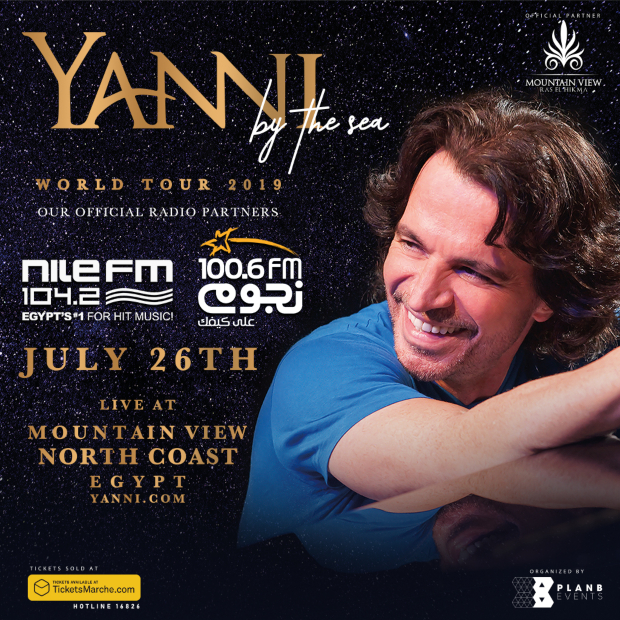Yanni To Hold Second Concert In Egypt By The Sea | NileFM