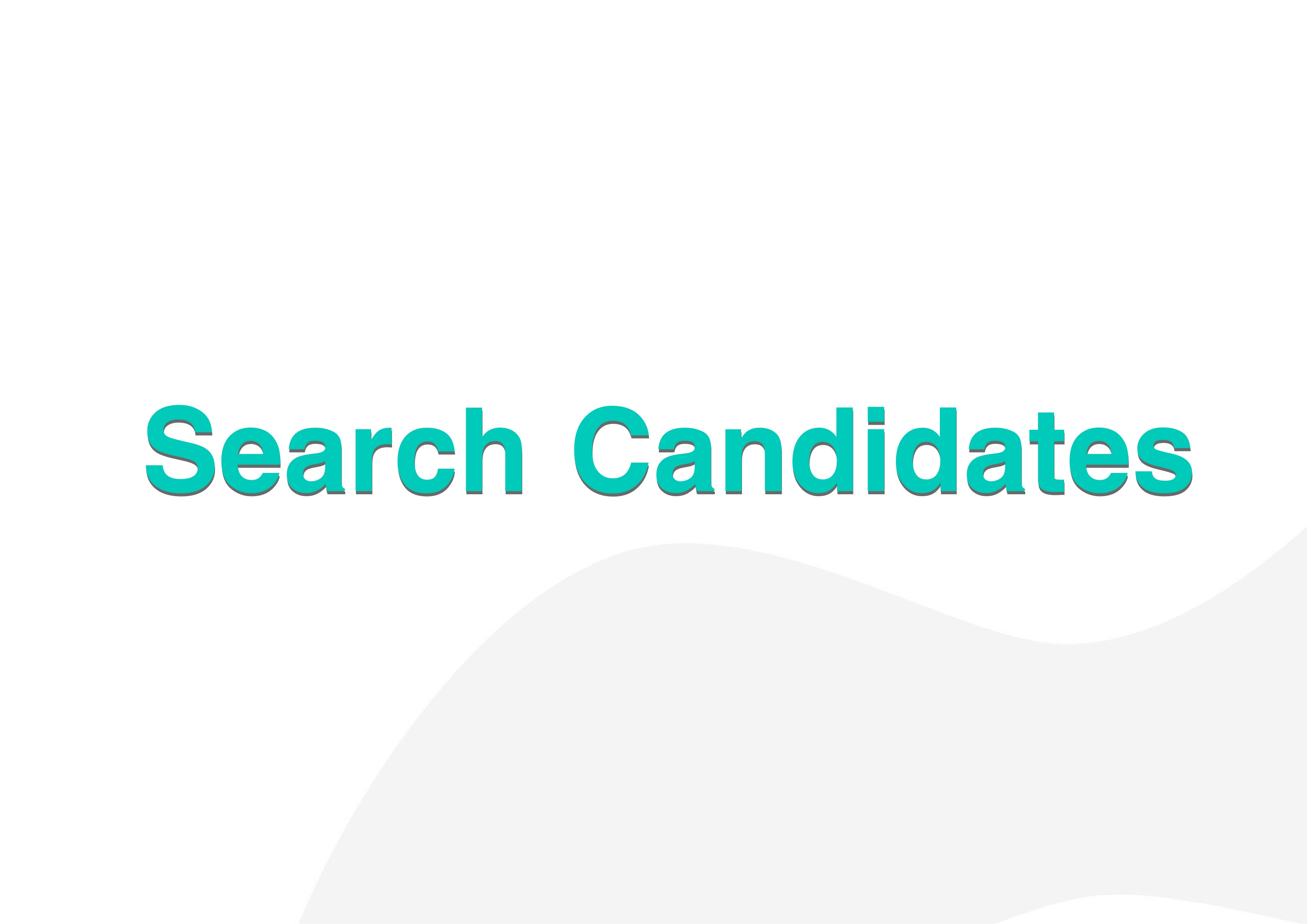 Search for Candidates