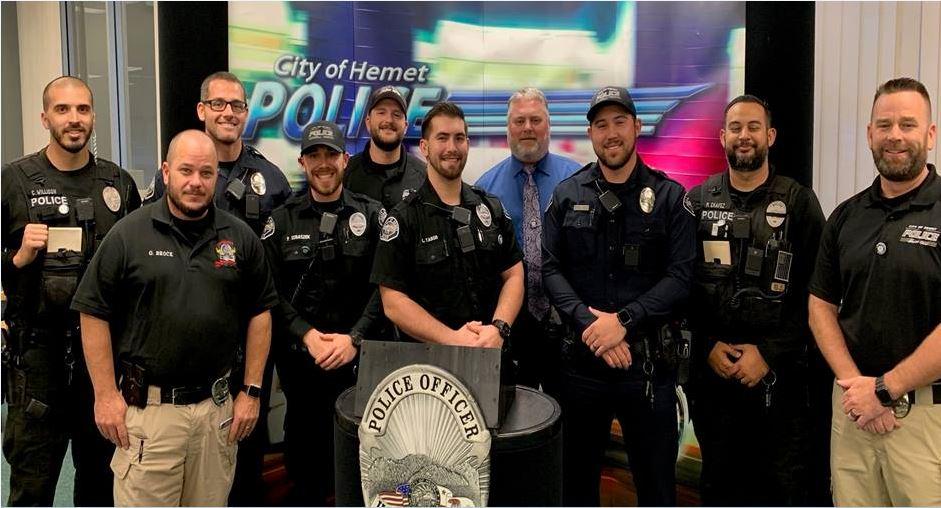 Hemet Police Department No Shave November 2017