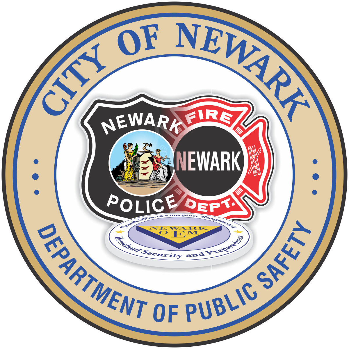 The Newark Department of Public Safety  No Shave November 2017