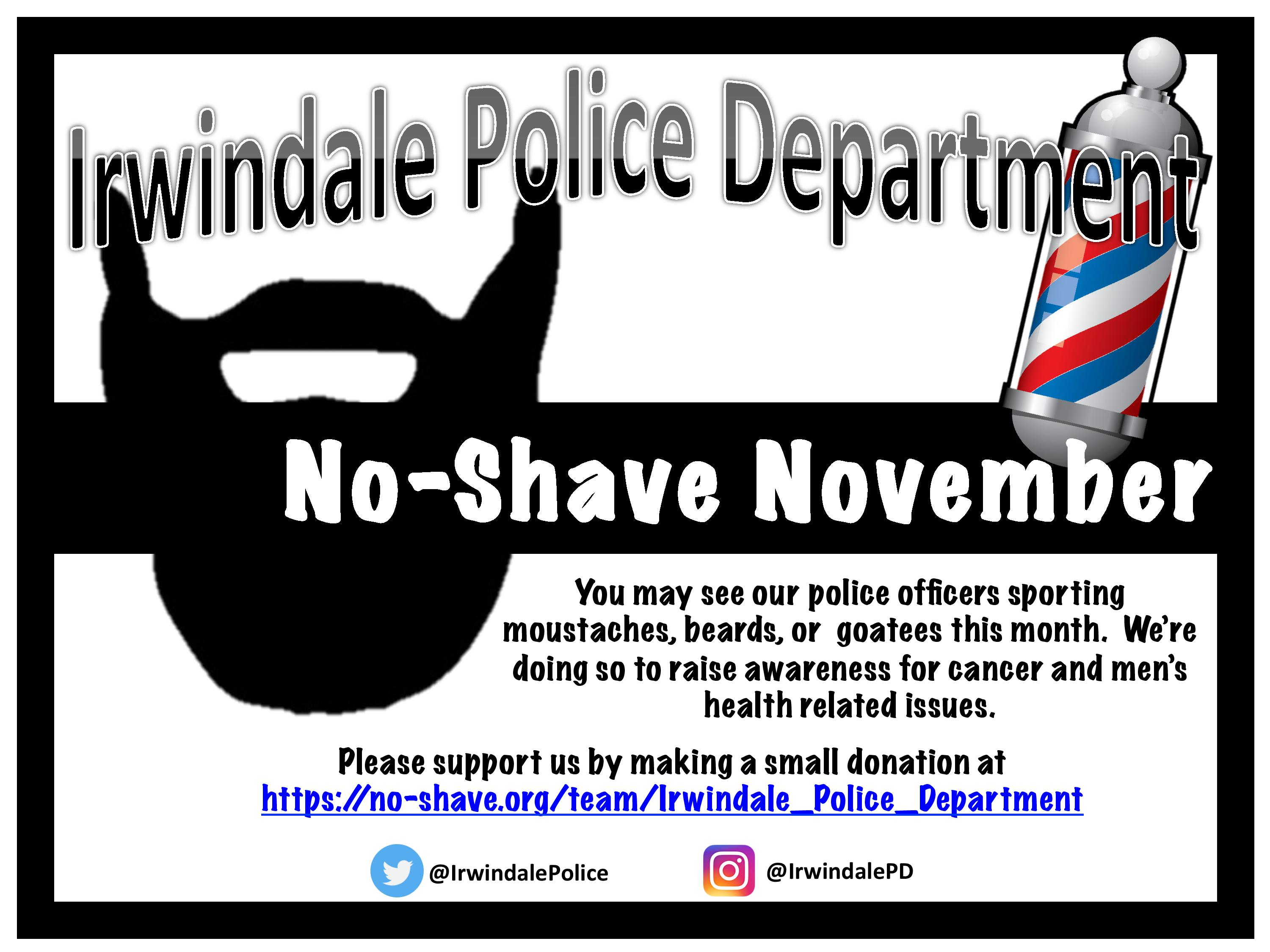 Irwindale Police Department No Shave November 2017