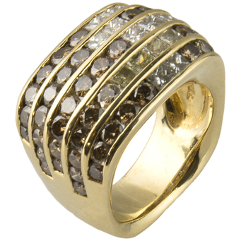 Anillo Damiani de Oro y Diamantes