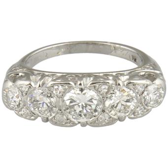 Anillo Principios Siglo XX de Platino y Diamantes