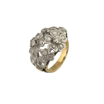 Sortija Modernista de Oro y Diamantes