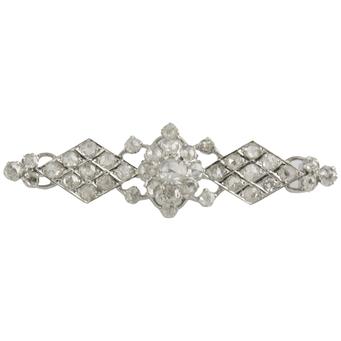 Broche Años 20 de Oro Blanco y Diamantes