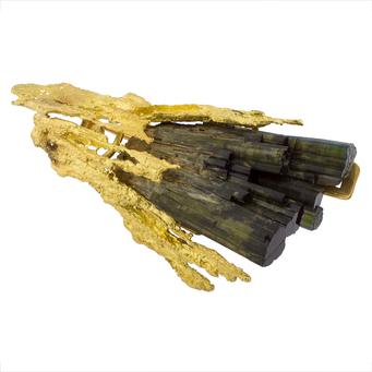 Broche Suárez de Oro y Turmalina Verde