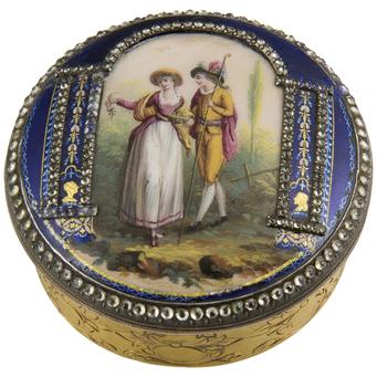 Caja Siglo XIX de Oro y Esmaltes