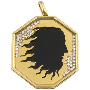 Colgante Carrera y Carrera de Oro, Ónix y Diamantes
