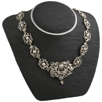 Gargantilla Isabelina de Oro, Plata y Diamantes