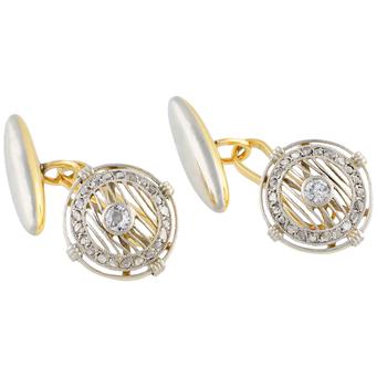 Gemelos Belle Époque de Oro, Platino y Diamantes