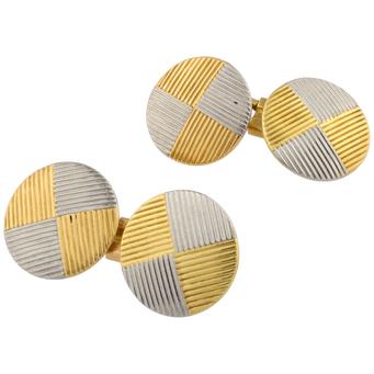 Gemelos de Oro Blanco y Amarillo