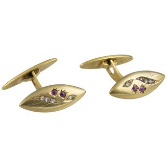 Gemelos Principios Siglo XX de Oro, Diamantes y Piedras de Color