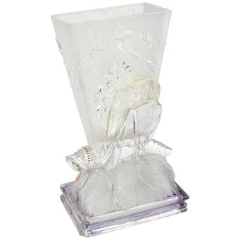 Jarrón de Cristal Baccarat Siglo XIX