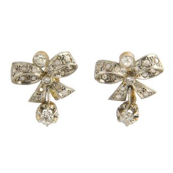 Pendientes Años 30 de Oro y Diamantes