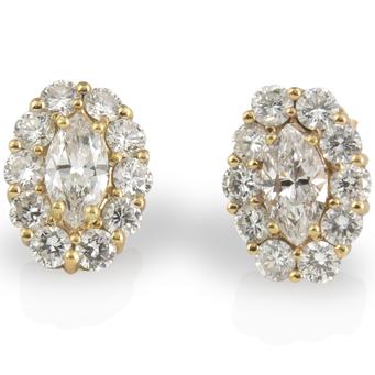Pendientes de Pedida de Oro y Diamantes