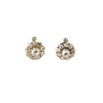Pendientes Principios Siglo XX de Oro y Diamantes