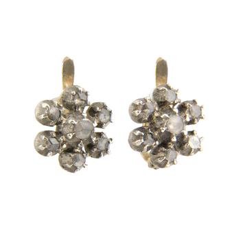 Pendientes Siglo XIX de Oro, Plata y Diamantes