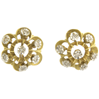 Pendientes Vintage de Oro y Brillantes
