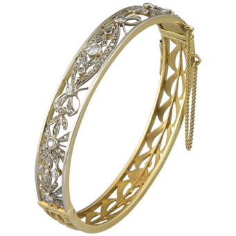 Pulsera Belle Époque de Oro, Platino y Diamantes