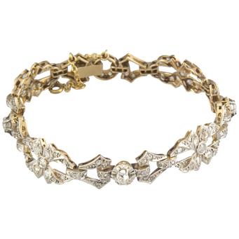 Pulsera de Compromiso Años 30 de Oro y Diamantes