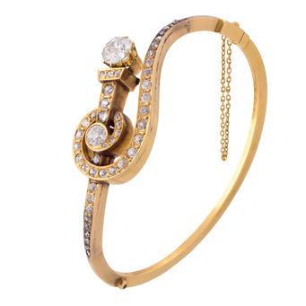 Pulsera Siglo XIX de Oro y Diamantes