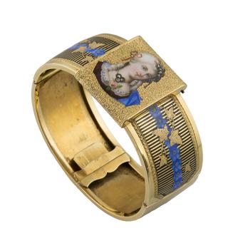 Pulsera Siglo XIX de Oro y Esmaltes