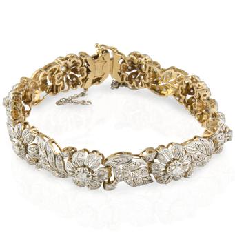 Pulsera Vintage Principios Siglo XX de Oro y Diamantes