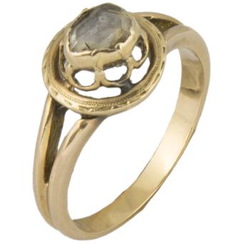 Anillo Siglo XIX-XX de Oro y Diamante