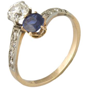 Sortija Tú y Yo de Oro y Diamantes