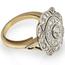 Sortija Art Decó de Platino, Oro y Diamantes