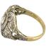 Anillo Art Decó de Oro y Diamantes