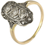 Anilo Art Decó de Oro, Plata y Diamantes